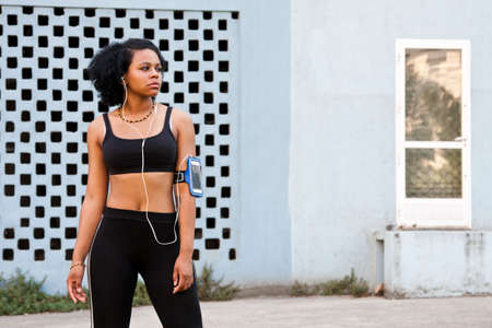 sportwoman: woman athlete on the street