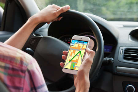 pager: driving with gps on mobile phone