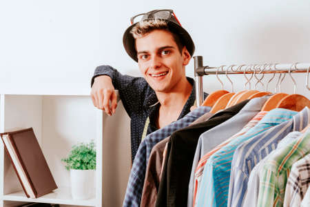 personal shopper in the fashion store Stock Photo