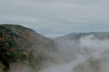 orense: misty mountain landscape