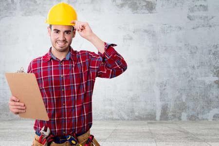 construction helmet and tools professional