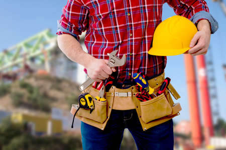 builder, worker with tools
