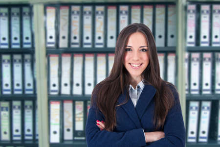 modern business woman on background, portraits, and executives