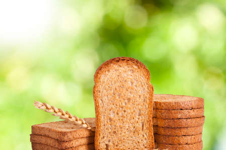 bread fresh and focused on background