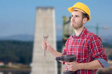 worker of constructional and technical tools