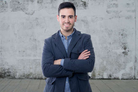 median age: portrait of mans business modern smiling