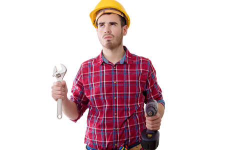 builder drill isolated on white background Stock Photo
