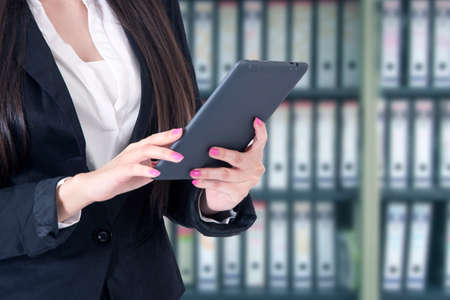 business woman with the tablet in your hands