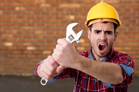 construction worker screaming tools