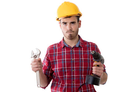 builder isolated on background
