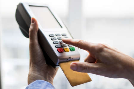 shopping and stores with credit card payments Stock Photo