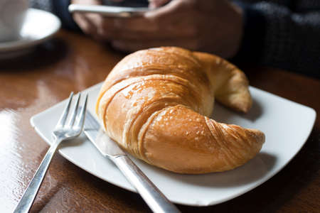 croissant in the cafeteria