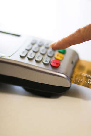 impulsive: shopping and stores with credit card payments Stock Photo