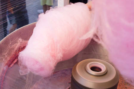 since making the cotton candy Stock fotó - 80554110