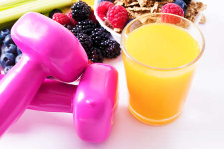 fruit, juice, concept of healthy living and exercise