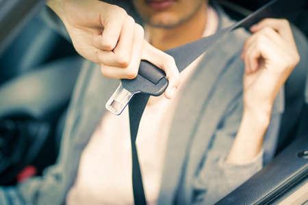 seatbelt in the car 写真素材