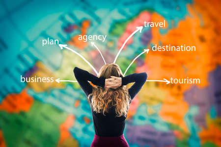 woman with map and travel concepts