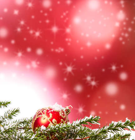 christmas backgrounds with ornaments and christmas ball Archivio Fotografico