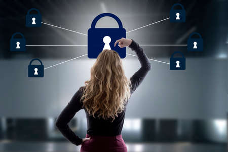 security concept protection and password