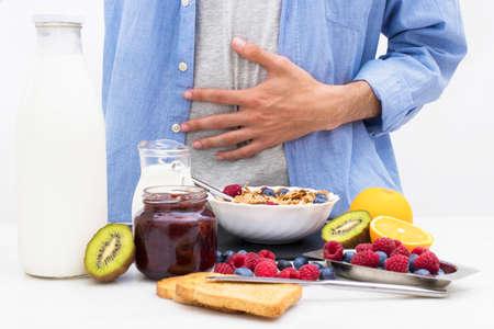 desayuno sano y equilibrado, dieta sana Foto de archivo
