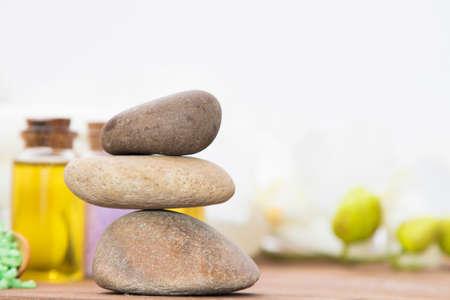 équilibrage des pierres, concept de spa, santé et beauté