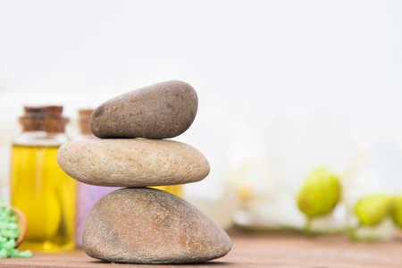 balancing stones, spa concept, health and beauty