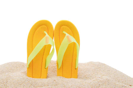 sandals on the beach, holiday and summer concept Reklamní fotografie