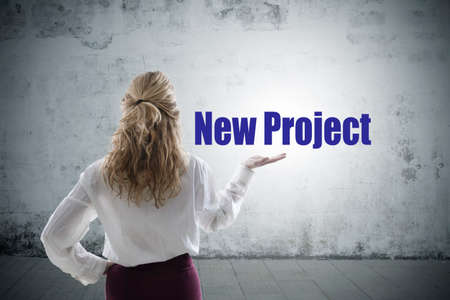 business woman showing the concept of new project Reklamní fotografie