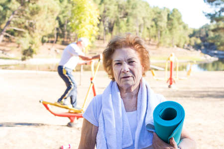 older people doing sport, active retirement