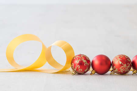 christmas background with tree and decorative balls