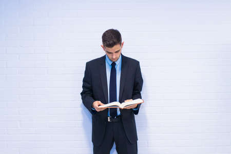 business man with book or agenda 写真素材