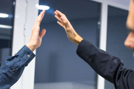 business people waving with their hands, success