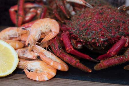 fresh and natural seafood prepared