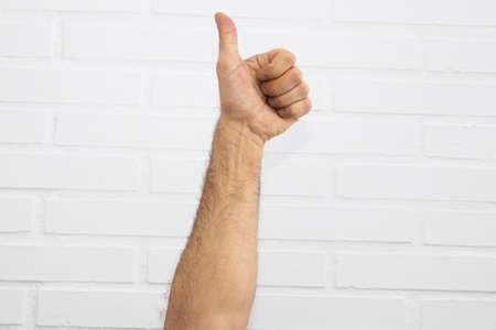 mains isolées sur fond blanc