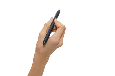 hand-held insulated pen in white