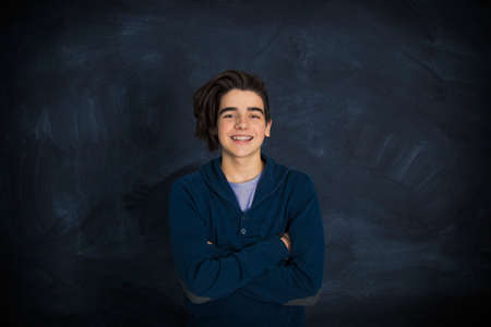 portrait of fashionable teenager smiling Imagens