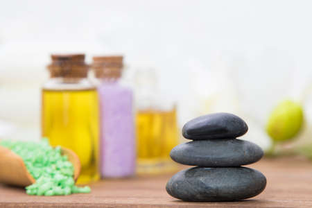 spa oils, salts and stones