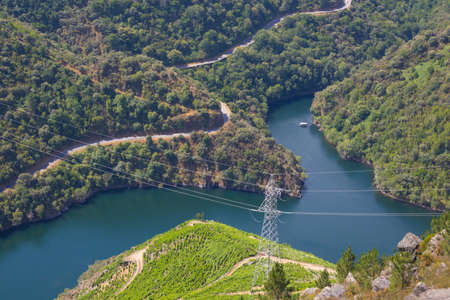 landscape of the sil canyon from the viewpoint do duque, ribeira sacra, ourense, galicia, spain
