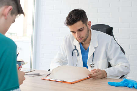 doctor in consultation with patient, health and medicine Stok Fotoğraf