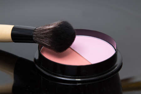 makeup and brushes, cosmetics and beauty