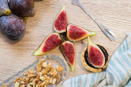 cakes and sweets with natural figs