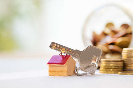 keys with house and money, house purchase concept