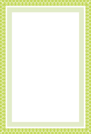 perimeter: Vector secure green border in format A4