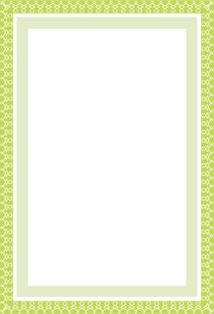cerchione: Vettore di garantire la frontiera verde in formato A4