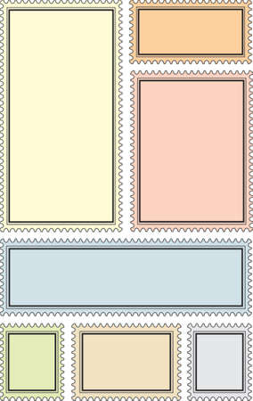 proportion: Vector stamp frames - many proportion