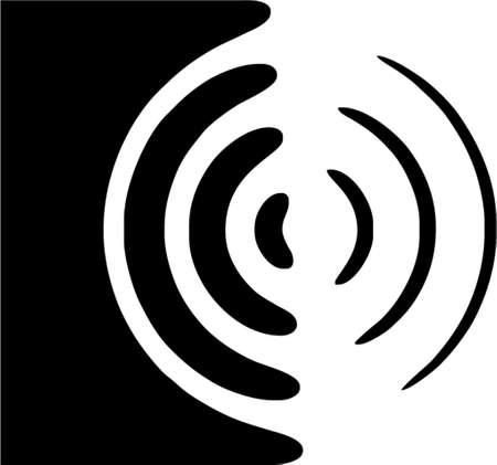 subwoofer: Oratore simbolo  Vettoriali