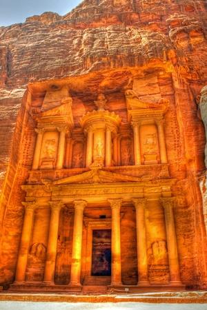 nabataean: Ancient ruins of the Temple of Petra in Jordan