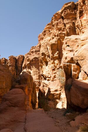 Rocky desert of southern Jordan in Asia photo