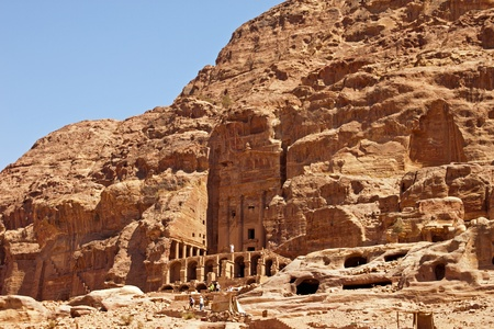 Ancient ruins of the Temple of Petra in Jordan