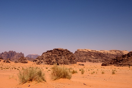 View of the desert of Wadi Rum in southern Jordan Stock Photo - 12135566